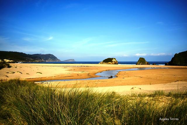 Playa de San Román, Lugo, Galicia, España