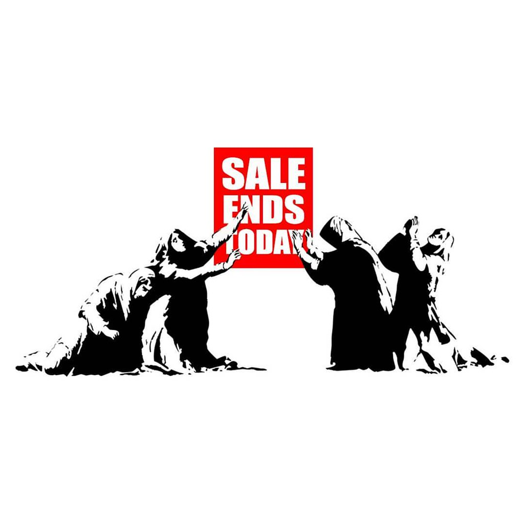 Sale Ends Today Banksy Stencil Streetart Satire Consu Flickr
