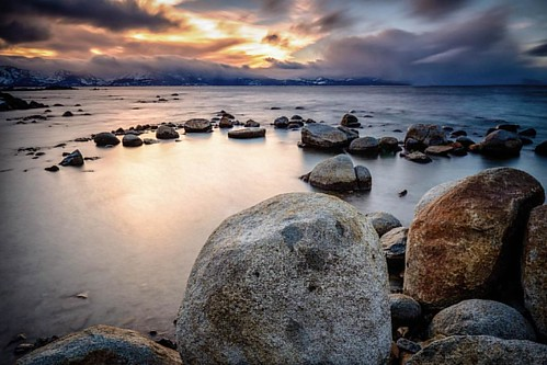 """Calming the Storm""  Long Exposure sunset from the Nevada side of Lake Tahoe.   #natureaddict #global_hotshotz #rsa_light #rsa_nature #ig_worldclub #ig_northamerica #mkexplore #peoplescreatives #usaprimeshot #jaw_dropping_shots 