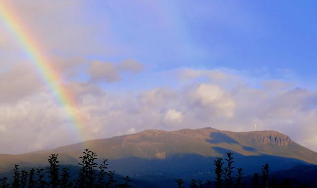 Rainbow Over Mount Wellington
