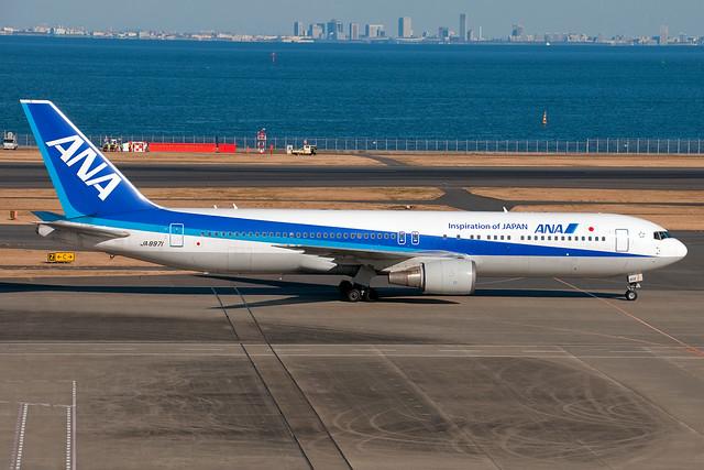 JA8971 ANA All Nippon Airways Boeing 767-300ER Tokyo Haneda