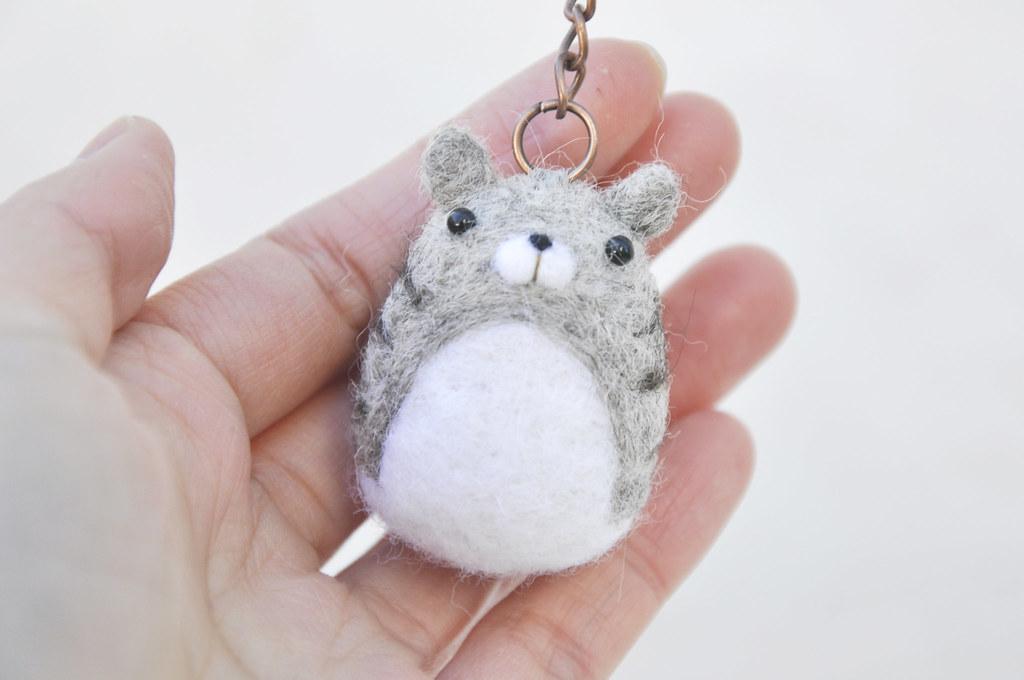 Amigurumi cat keychain needle felt animal keychain by NoriStudio ...   680x1024