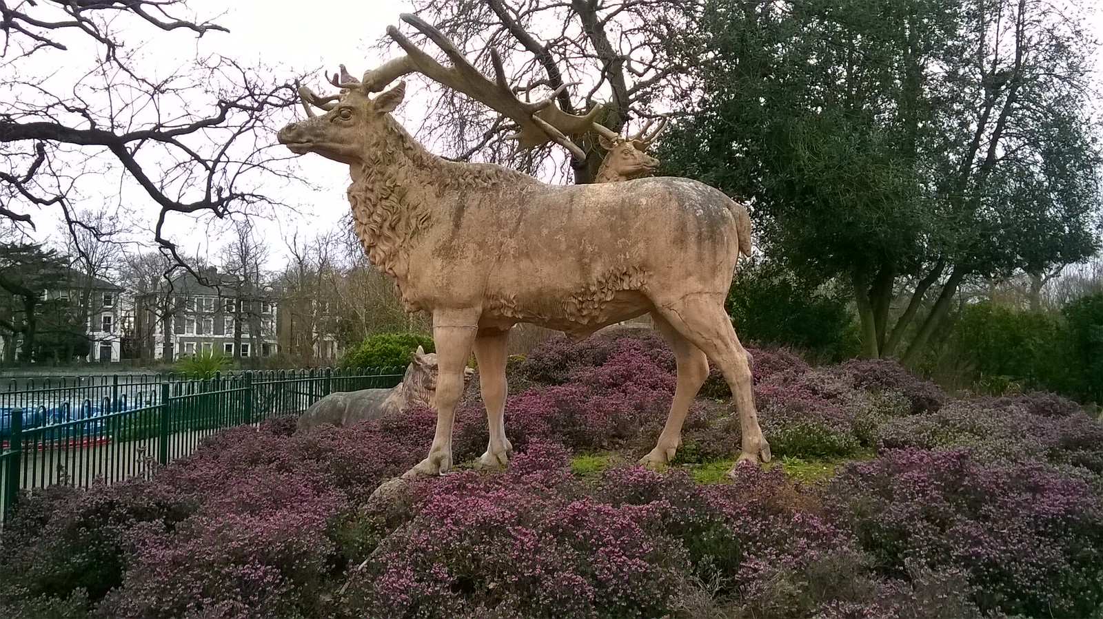 statue extinct Irish elk Crystal Palace