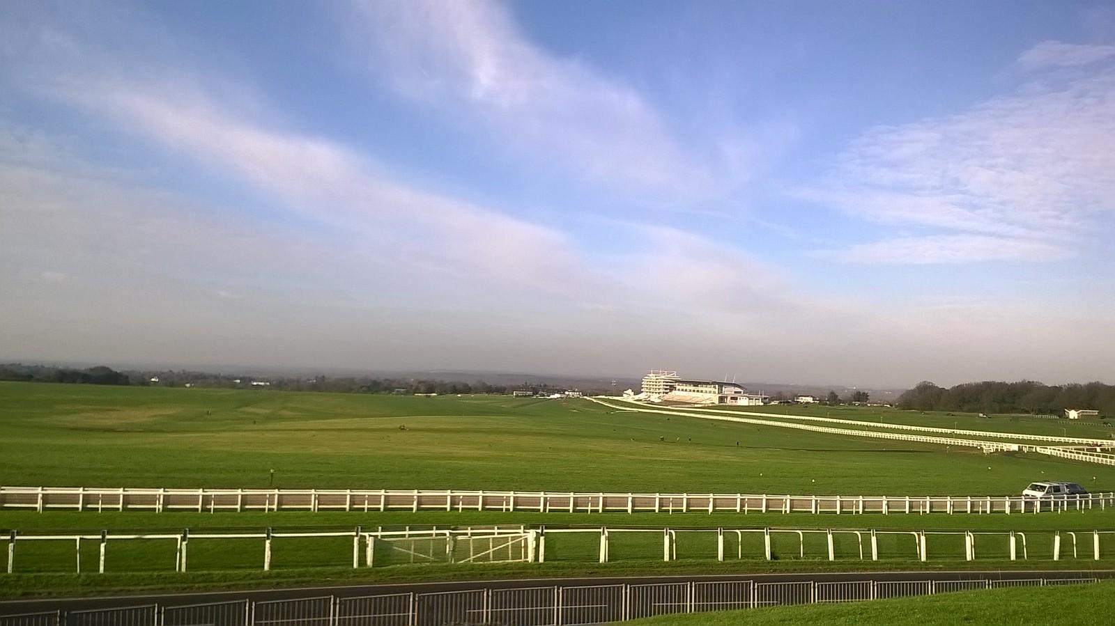 Epsom racecourse #4 final furlongs