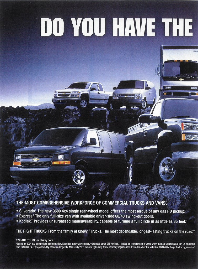 2004 Chevrolet Trucks Usa P1 When General Motors Was Sti