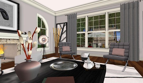 Swank Feb 2016-Cosmo LR Garden View | by Hidden Gems in Second Life (Interior Designer)