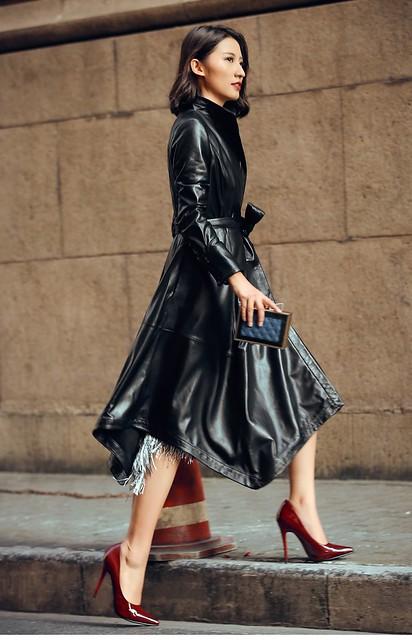 Interesting Leather Coat