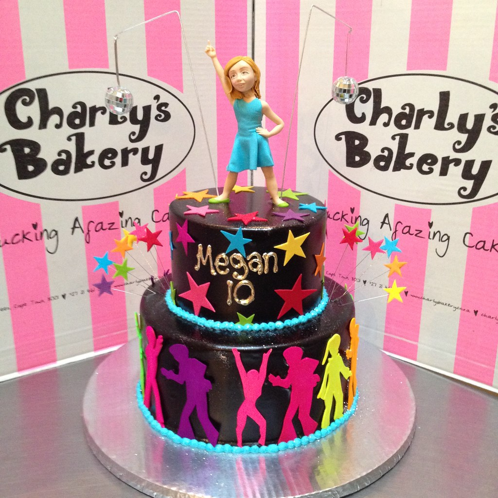 Awe Inspiring 2 Tier Disco Dancing Themed Birthday Cake With 3D Figurine Flickr Birthday Cards Printable Giouspongecafe Filternl