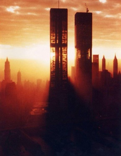The World Trade Center photographed on a morning in 1972 one year before completion [900x1154] #HistoryPorn #history #retro http://ift.tt/1SpyWFj | by Histolines