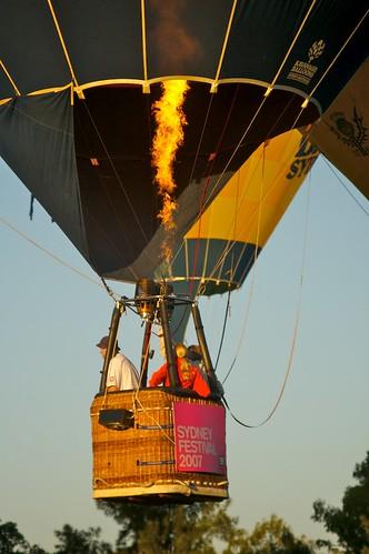 park festival balloons fire dawn basket air sydney floating australia flame nsw newsouthwales aus hotairballoons oceania parramatta parramattapark pc2150 westernsydney auspctagged atdawn sydneyfestival atsunrise speakersattached skyorchestra