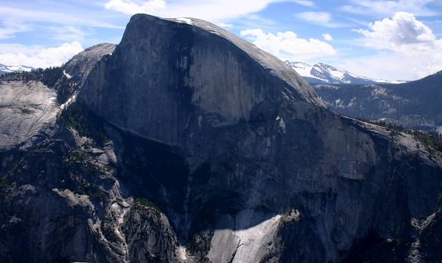 View of Half Dome from North Dome, Yosemite National Park, California