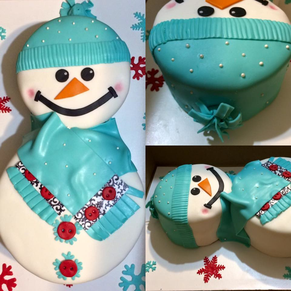 Groovy Dontated To Pine Forest Elementary Snowman Cake By Sonya Flickr Personalised Birthday Cards Paralily Jamesorg