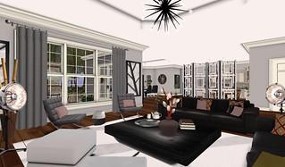Swank Feb 2016-Cosmo LR Kitchen | by Hidden Gems in Second Life (Interior Designer)