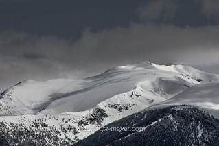 Andorra mountain winter landscape: Canillo, Vall d'Orient, Andorra