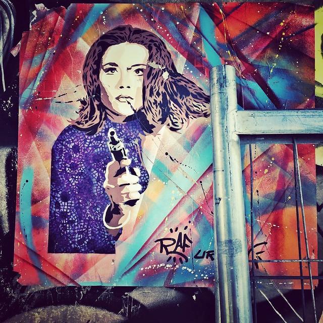 Emma with a gun #urban #paris #graff #art #streetart #streetartparis #street #emma #girl #gun #mood #attitude #instagood #instadaily #instafollow #instalike #love