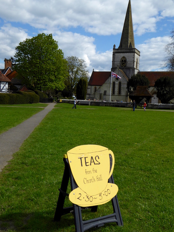 Tea at Brookham church Sunday afternoons in spring and summer: Dorking to Reigate walk