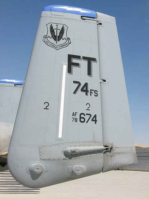 Close-Up Tail. A-10C 78-0674/FT