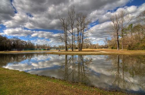 usa lake reflection water horizontal fishing pond louisiana batonrouge hdr highdynamicrange hdri nikond7000 gauravkavathekar