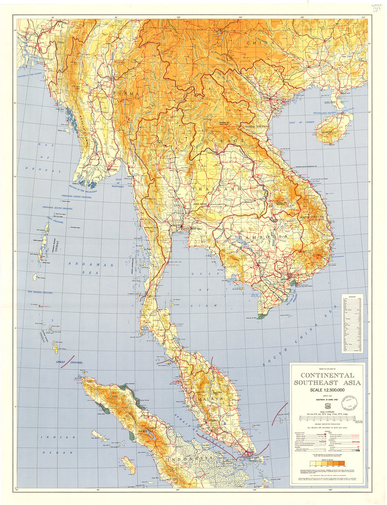 Map Of Asia 1960.Continental Southeast Asia Year 1960 By U S Army Map Se Flickr