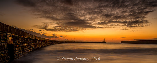uk morning light england sky sun lighthouse beach clouds sunrise golden coast pier exposure wideangle fullframe seaham northeastcoast seahamharbour northeastengland ef1740mmf4l lee09gnd leefilters canon6d lee06gnd lightroom5 stevenpeachey