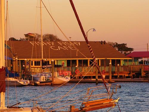 sunset marina northcarolina southport intercoastalwaterway capefearriver brunswickcounty yachtbasin fishyfishycafe yachtbasindrive gerrydincher nc