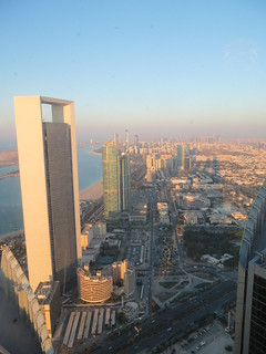 "View along the corniche from Etihad Towers' ""Observation Deck at 300"" 