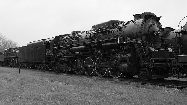 Chesapeake and Ohio 2707 Black and White