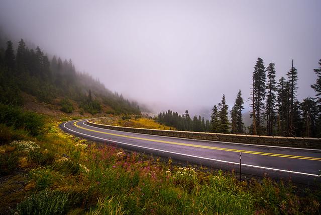 Road to Chinook Pass  - Washington
