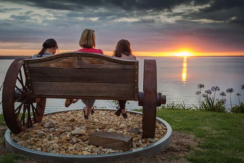sunset sea water australia metung lakeking canon5dm3