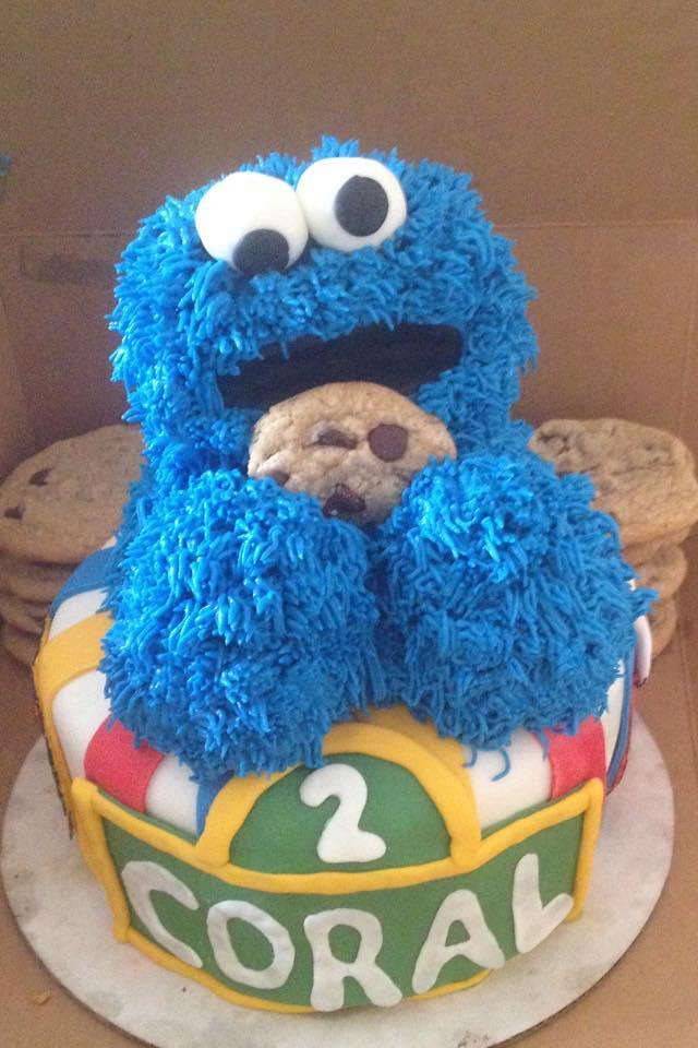 Cookie Monster Cake Seattle WA Birthdaycakes4free 1