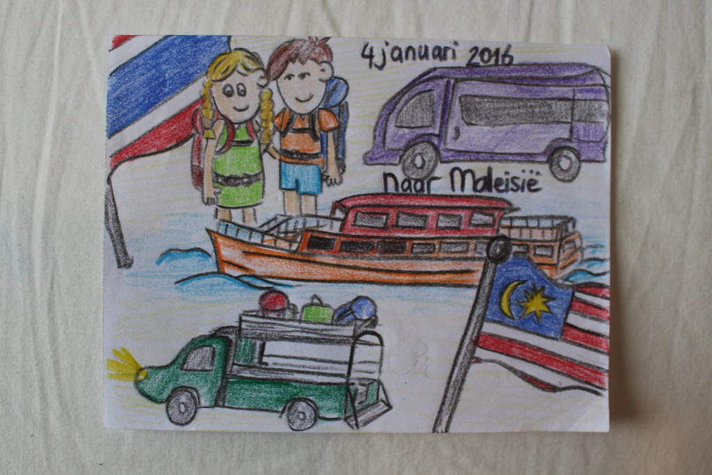 Met veel vervoersmiddelen naar Maleisië