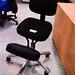 Black ortho swivel chair