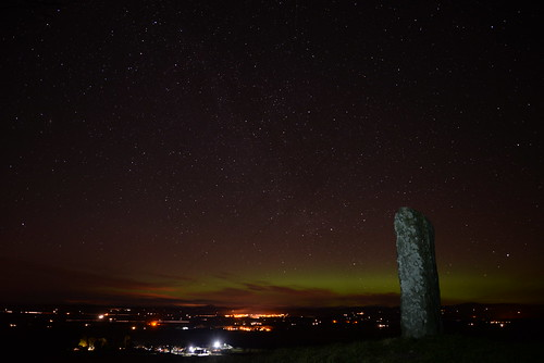 Pictish stone at night | by davidmamartin