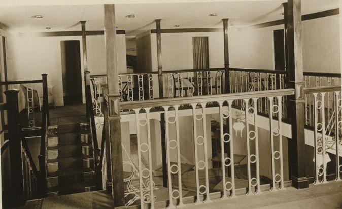 Passenger cabin area of R100 Airship (Howden Aerodrome) 1933 (archive ref DDX1017-1)