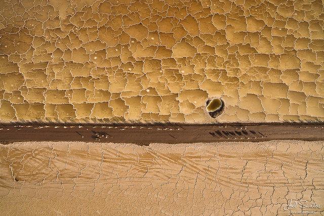 Salt Desert Patterns and Camel Caravan, Danakil Depression, Ethiopia