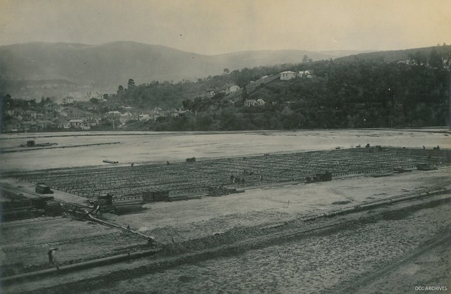 Foundations - Construction of the New Zealand & South Seas Exhibition, Logan Park 1924-1925