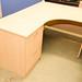 L shaped maple desk