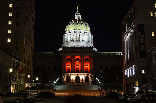 The beautiful Pennsylvania State Capitol Building.