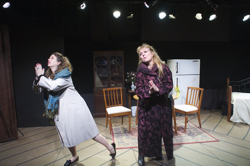 "<p>Moriah Whiteman as Margherita and Hanna Bondarewska as Antonia in ""They Don't Pay? We Won't Pay!"" BY Dario Fo<br /> ...Give me a baby! Give me a baby!....</p>"