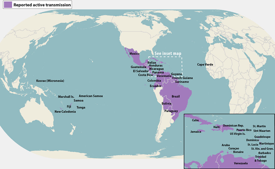 Zika Virus Map | via the CDC | Chris Eden | Flickr on