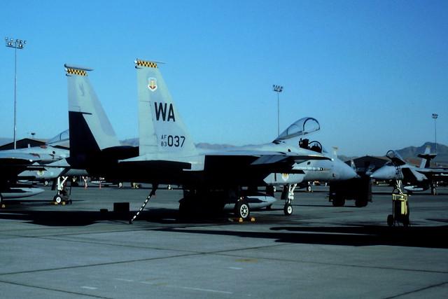 F-15C 83-0037/WA 57FW USAF. Nellis AFB, Nevada. (During