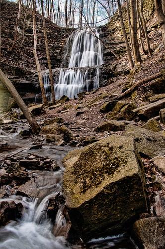 spencerfalls hamilton ancaster ontario waterfall creek spring water cascade nikon d300 18200mmf3556gvrii nature trees landscape knarrgallery darylknarr knarrphotography