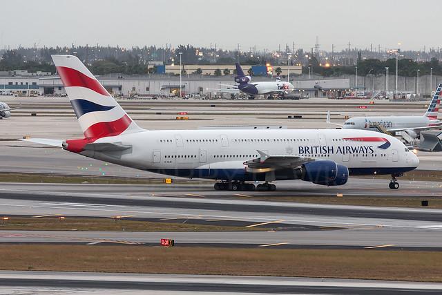 British Airways Airbus A380-800 G-XLEI [MIA]