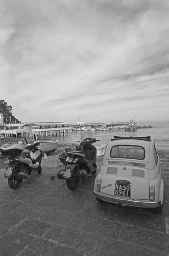 Italian seascape - fiat and scooters | by Beverley Sweetman