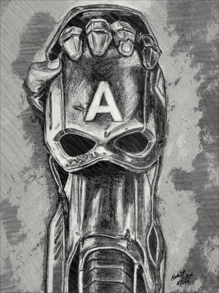 Captain america civil war pencil drawing by mohit kumar ra flickr