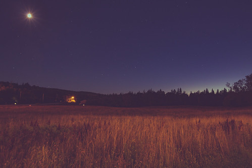 ca longexposure sunset moon canada field night stars novascotia capebreton eastbay bluehour brasdor chapelroad trunk4 novascotia4 novascotiatrunk4