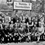 Lehrgangsteilnehmer der Märkischen Bauernhochschule 1934, Peter Thöresz unterste Reihe rechts aussen.