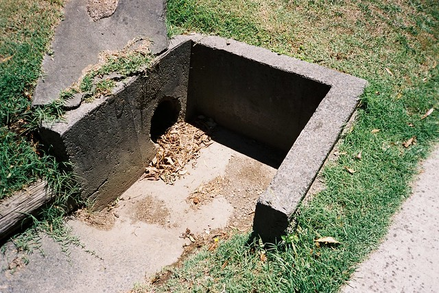 A sewage drain