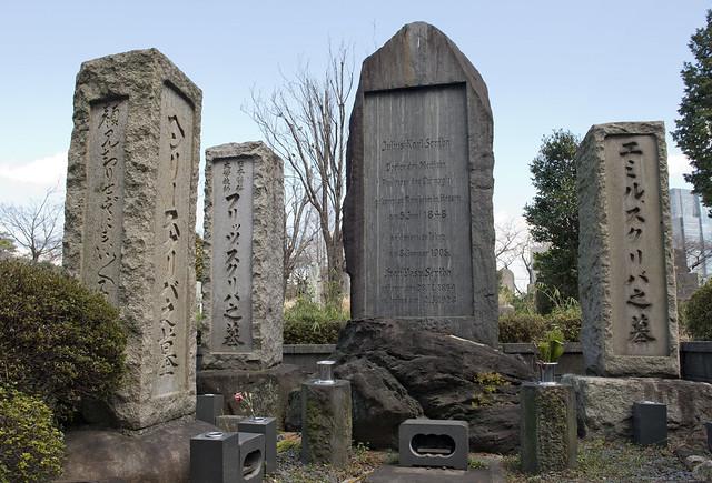 青山霊園 Family of Dr Julius K. Scriba 1848-1905