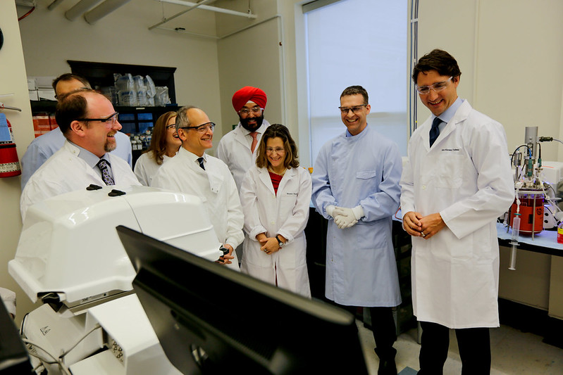 On January 13, 2016, Prime Minister Justin Trudeau announced that the federal government will contribute $20 million to the Centre for Commercialization of Regenerative Medicine (CCRM) to establish a new Centre for Advanced Therapeutic Cell Technologies. The news came as the University announced that Professor Peter Zandstra, chief scientific officer of the CCRM, is the inaugural executive director of Medicine by Design.  (All photos by Johnny Guatto)